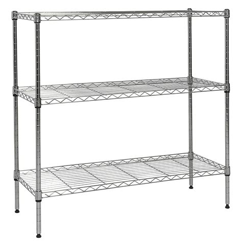 Regal Chrom by Apollo Chrome 3 Shelf Nsf Wire Shelving Rack With Wheels