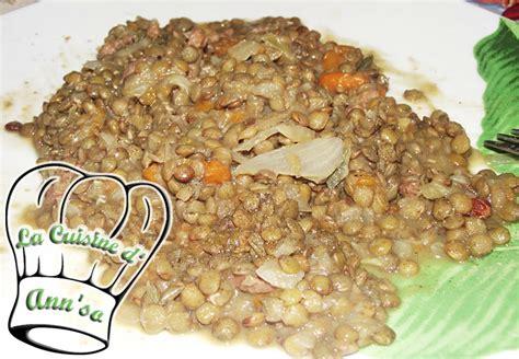 lentille cuisine lentilles aux poireaux carottes et lard annso cuisine cie