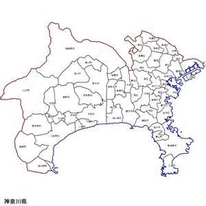 神奈川県:神奈川県の市町村区分地図