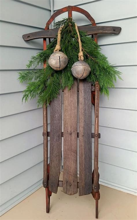 Decorating Ideas For Sweaters by Antique Sled And Sweater Quot Mittens Quot Winter Porch Decor