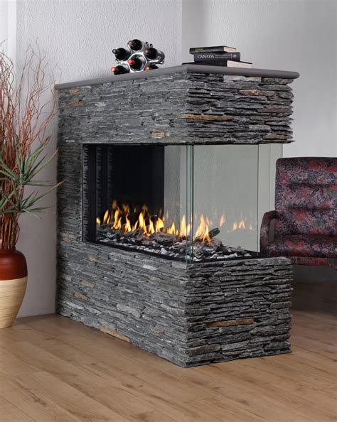 peninsula gas fireplace montigo rp424 deluxe 3 sided gas fireplace from friendly