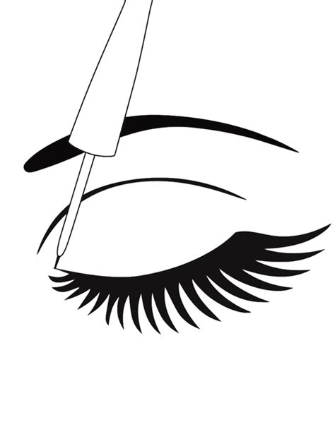 coloring cartoon eye lashes coloring pages