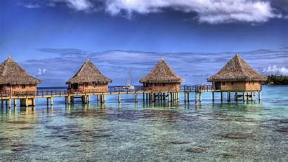 Tropical Bungalow Island Resort Nature French Landscape