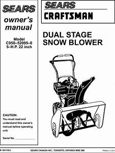 Craftsman 536886450 User Manual Snow Blower Manuals And