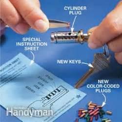 how to rekey a door lock how to re key a door lock the family handyman