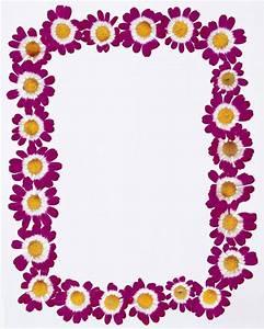 Purple Flowers Frame Borders Design 2014 -Page Border ...