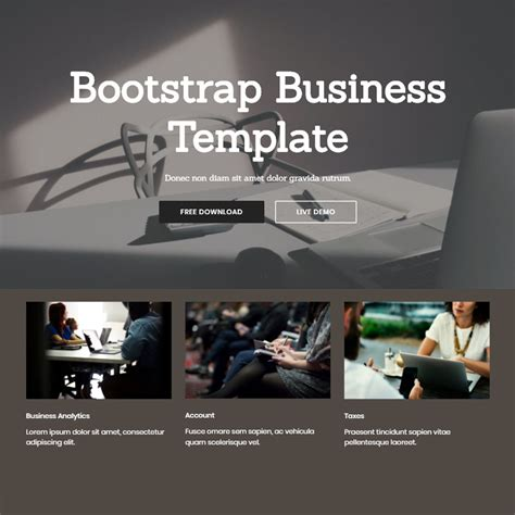 Bootstrap 4 Themes Free Bootstrap 4 Template 2018