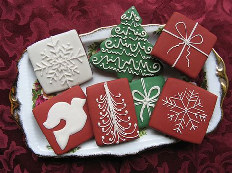 christmas tree and gift shaped cookies pictures photos