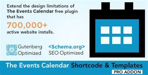 calendar shortcode templates pro bliter gpl