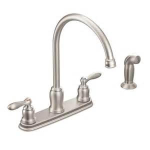 moen kitchen faucet cartridge caldwell spot resist stainless two handle high arc kitchen faucet ca87060srs moen