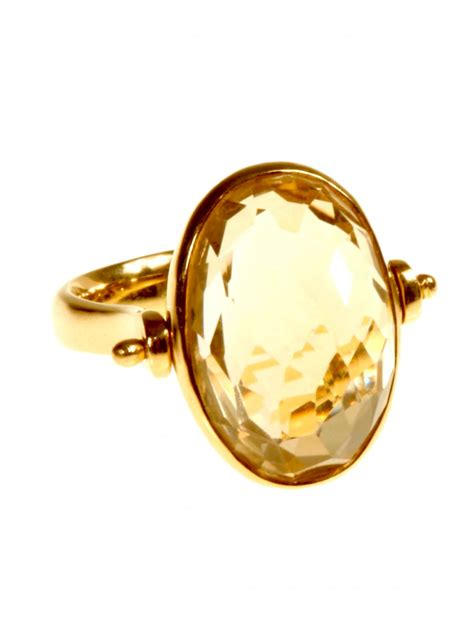 citrine swivel ring rings fine jewellery