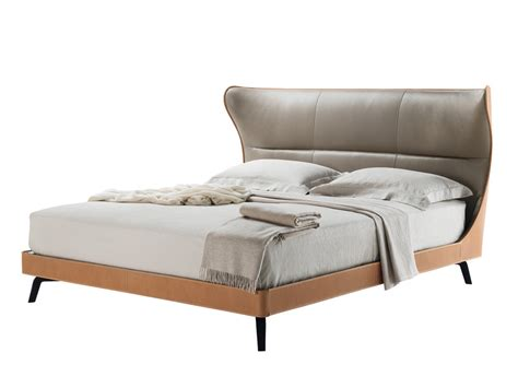 Buy The Poltrona Frau Mamy Blue Bed At Nest.co.uk