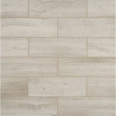 marble flooring tile ms international white oak 4 in x 12 in honed marble floor and wall tile 2 sq ft case