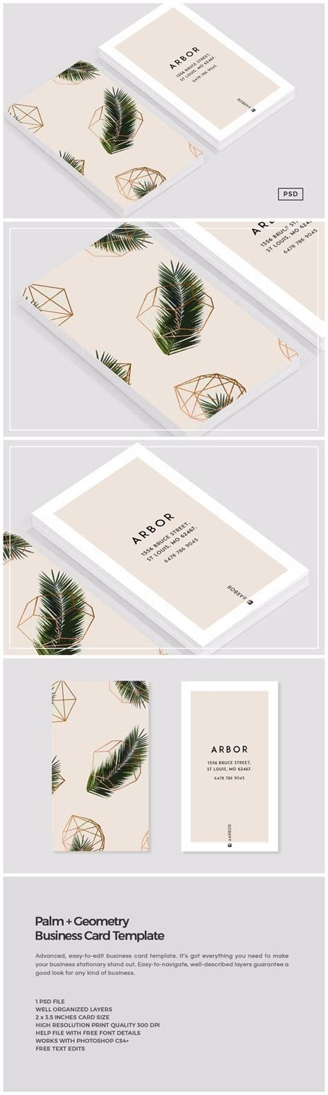 palm geometry business card  images card design