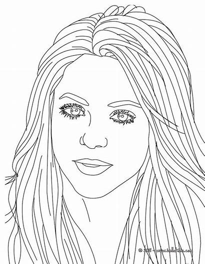 Coloring Pages Famous Sheets Adult Hellokids Shakira