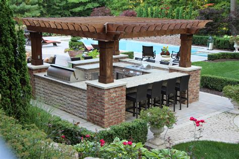 kitchen ideas with islands outdoor kitchens landscapes