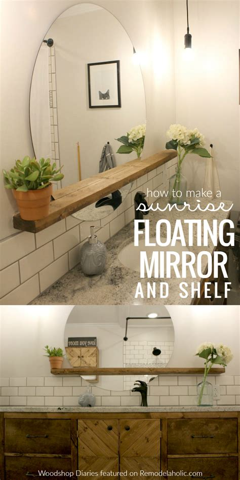 Modern Bathroom Vanity Diy by Give An Inexpensive Basic Mirror A Modern Update