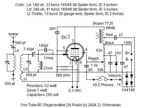 dx radio schematic luna    antique radio
