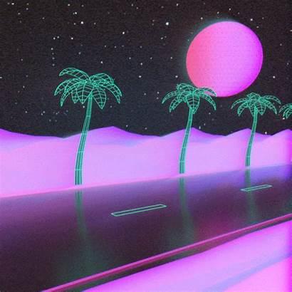 Aesthetic Vaporwave Anime Purple Road Retro Future