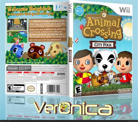 Animal Crossing City Folk Wii Box Art Cover By Veronica