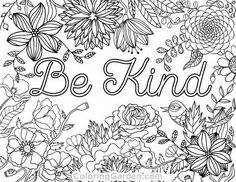 284 Best Words Colouring Pages for Adults images in 2019