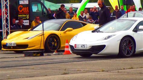 Mclaren Mp4 12c Vs 458 by 458 Italia Vs Mclaren Mp4 12c Drag Race 1 4 Mile