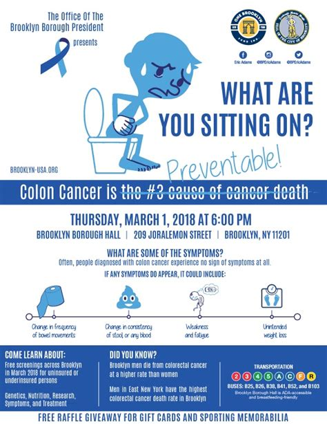 colon cancer awareness month forum office brooklyn borough