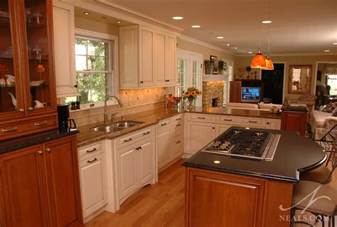 two different granite colors in kitchen open kitchen remodel montgomery oh 9502