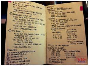 13 things you must write in your travel notebook before