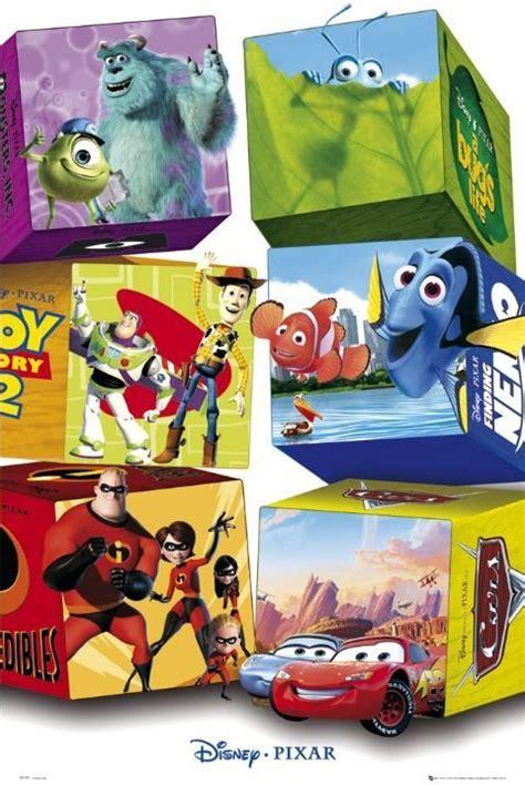 pixar characters poster affiche acheter le sur