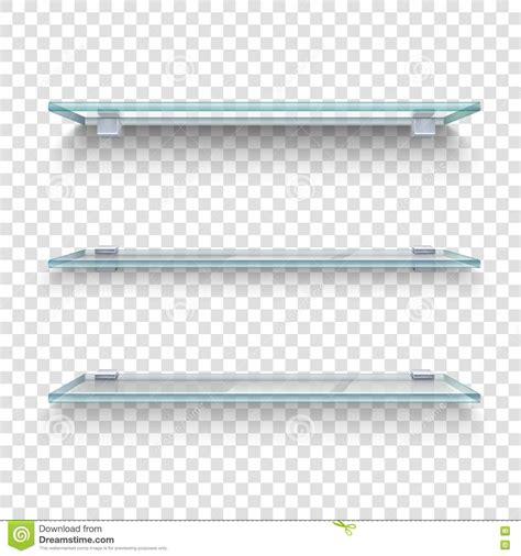 glass shelves transparent background cartoon vector