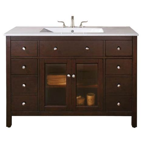 48 inch vanity cabinet only lexington 48 inch vanity only in light espresso finish