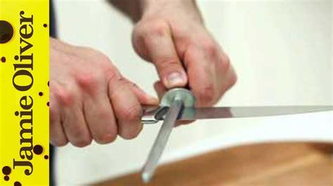 sharpen knives jamie olivers home cooking skills