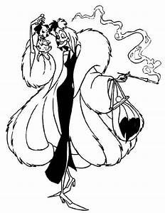 Coloriage Cruella Attrape Un Chiot Dalmatien 101