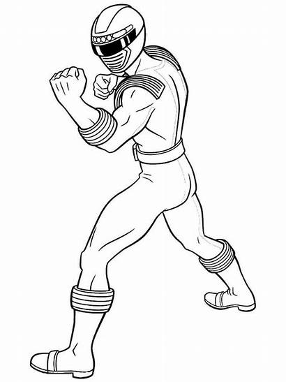 Rangers Power Coloring Pages Colors Cartoon Cartoons