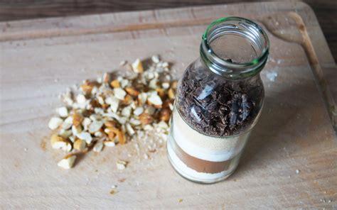 geschenke selber machen brownie backmischung im glas utopiade