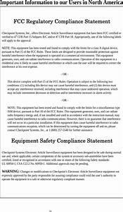 Checkpoint Systems Wrtz1000 Uhf Rfid System User Manual