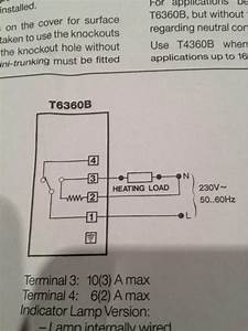 Thermostat - Honeywell T6360 Wiring
