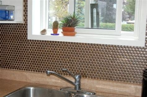 Lyric Penny Tile in Build from MosaicTileSupplies.com on a