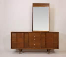 credenza triple dresser with mirror mid century danish
