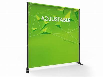 Stand Banner Adjustable Fabric 8ft Telescopic Tube