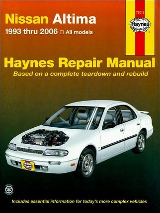 electric and cars manual 1995 nissan altima navigation system nissan altima repair service manual 1993 2006 haynes 72015
