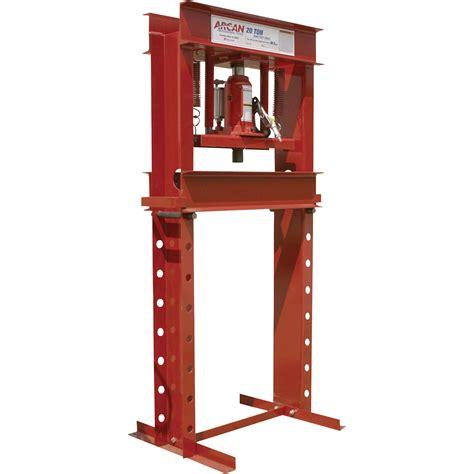 ton brands arcan 20 ton pneumatic shop press model cp301