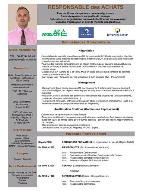 modele cv cadre commercial cv respach cv respach pdf fichier pdf