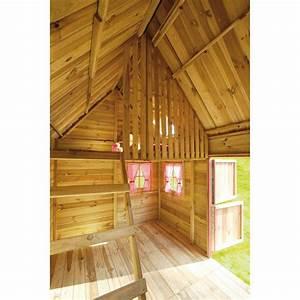 Cabane En Bois Enfant : cabane enfant tage en bois massif rosalie cerland ~ Dailycaller-alerts.com Idées de Décoration