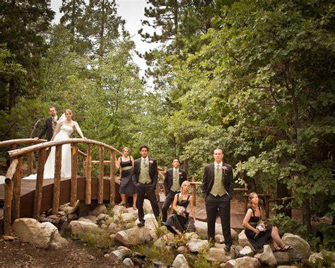 wedding party pine rose weddings lake arrowhead