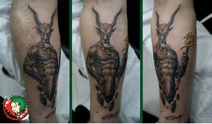 More Tattoo Images Under  Capricorn Tattoos  Capricorn Neck Tattoo