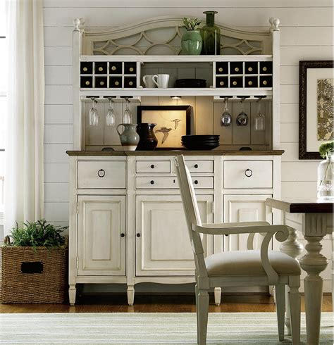 Kitchen Sideboard Hutch by Country Chic Maple Wood White Kitchen Buffet With Bar