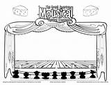Coloring Stage Theatre Pages Cutouts Drama Sketch Template Theater Dragged Mousical Hamilton Curtain Sketches Curtains Class Andrews Julie Walton Colorful sketch template