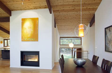 modern table modern fireplace dining table deck house renovation